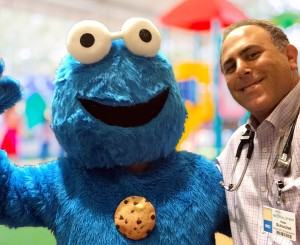 Pediatric Pulmonologist and Cookie Monster